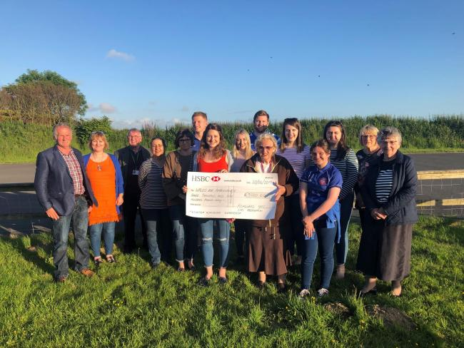 A huge boost for the Wales Air Ambulance from Tiers Cross YFC