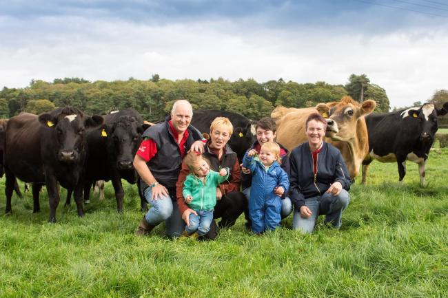 David Williams, pictured with his family, hopes there could one day be a price premium for milk from cows with the most desirable kappa-casein alleles.