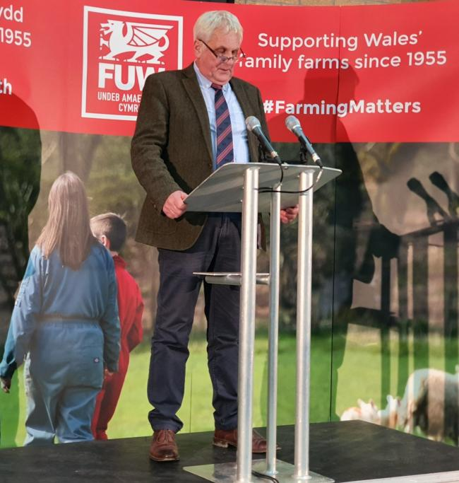 FUW president Glyn Roberts - the fight goes on