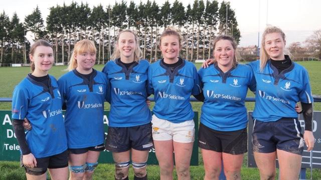 The Haverfordwest try scorers.