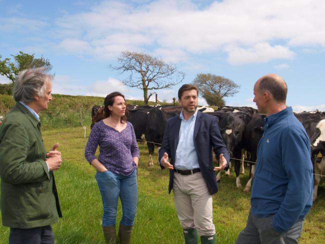 MP Stephen Crabb on a recent visit to a Pembrokeshire dairy farm