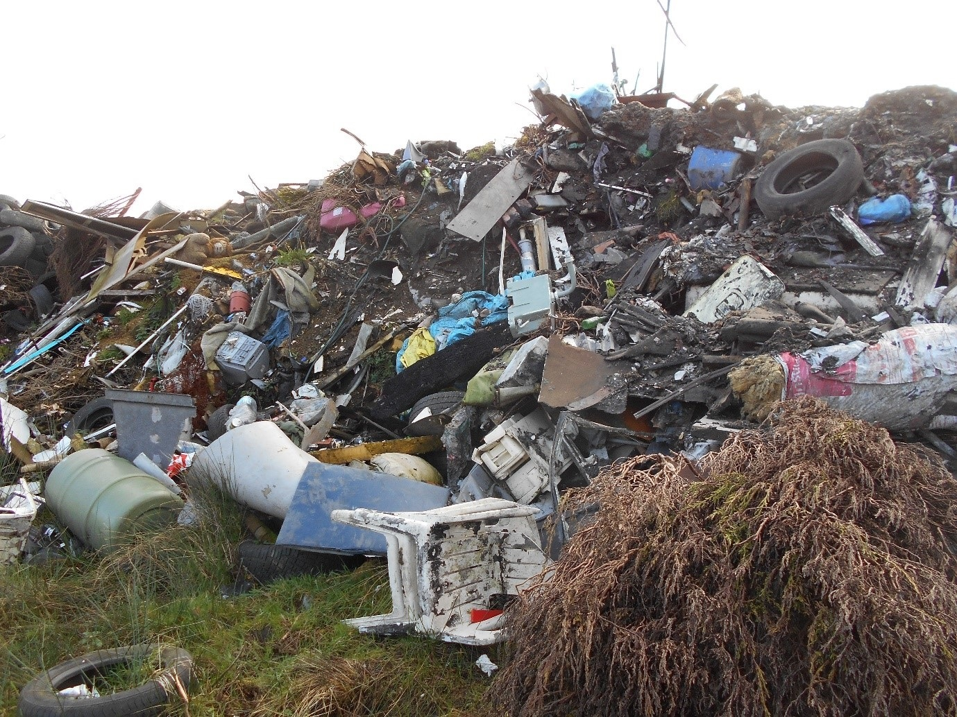 Natural Resources Wales discovered rubbish being illegally dumped by Andrew Thomas on his Garnant farm Pictures: NRW