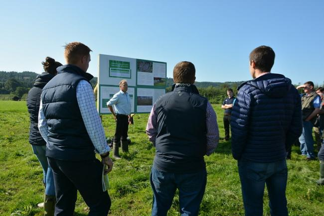 : A pre-Covid slurry management event held at Gelli Aur campus