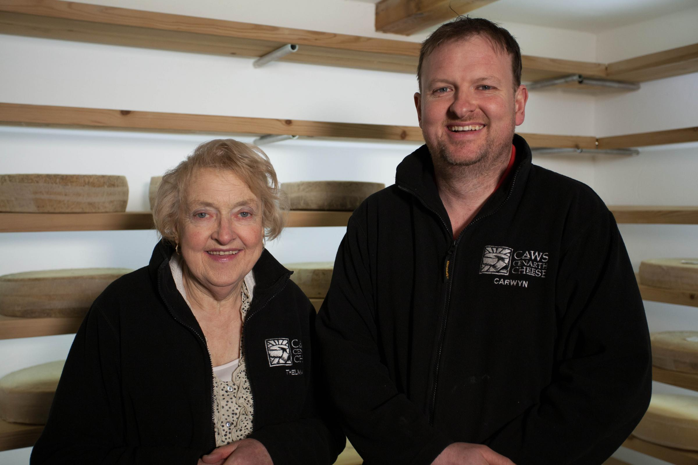 Mother and son Thelma and Carwyn Adams from Caws Cenarth have welcomed European protected status for traditional Caerphilly cheese