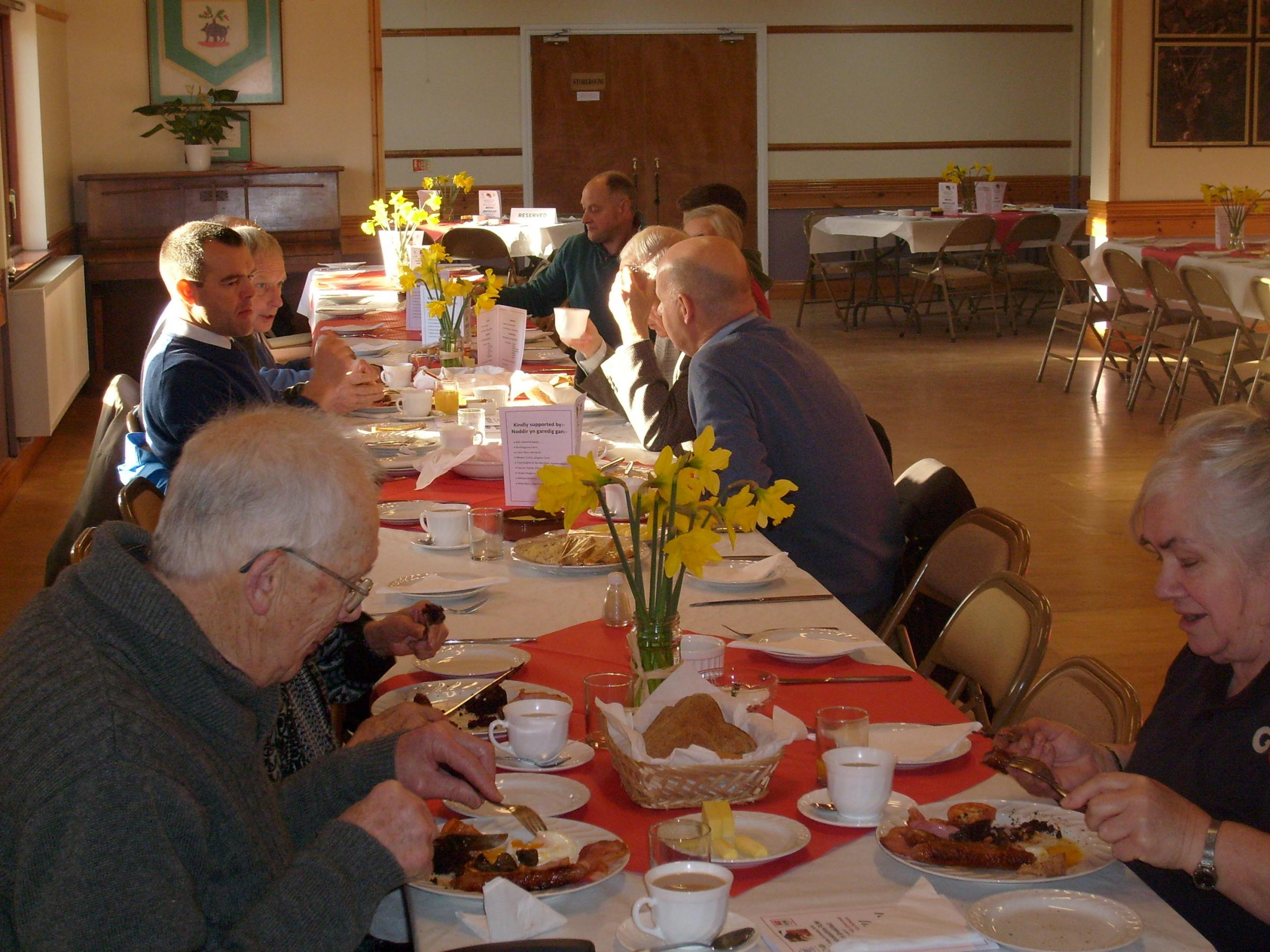 Breakfast supporters tuck in at Crundale