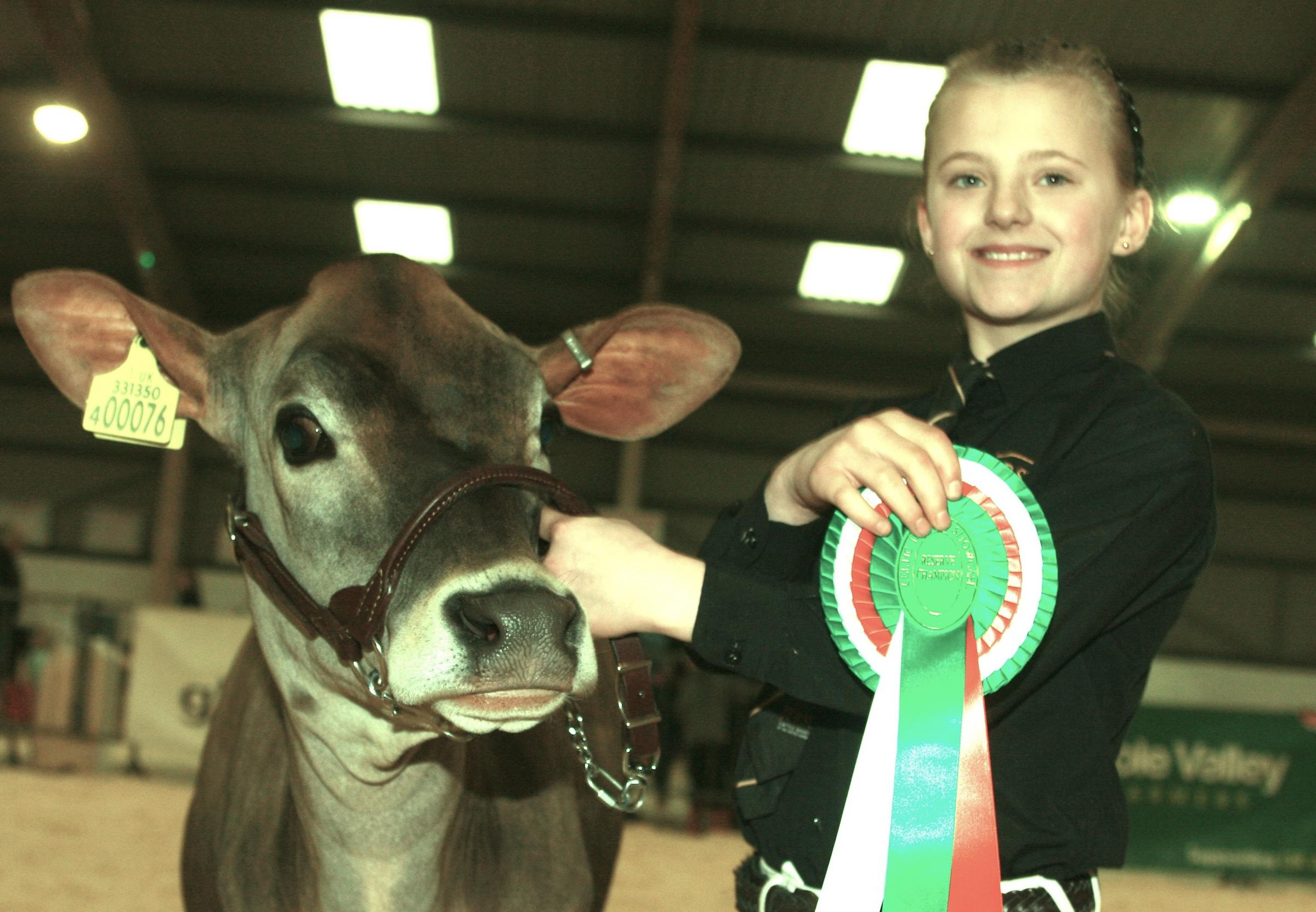 Junior winner of the young handlers showcase, Peighton Robertson, 10 PICTURE: Meyrick Brown