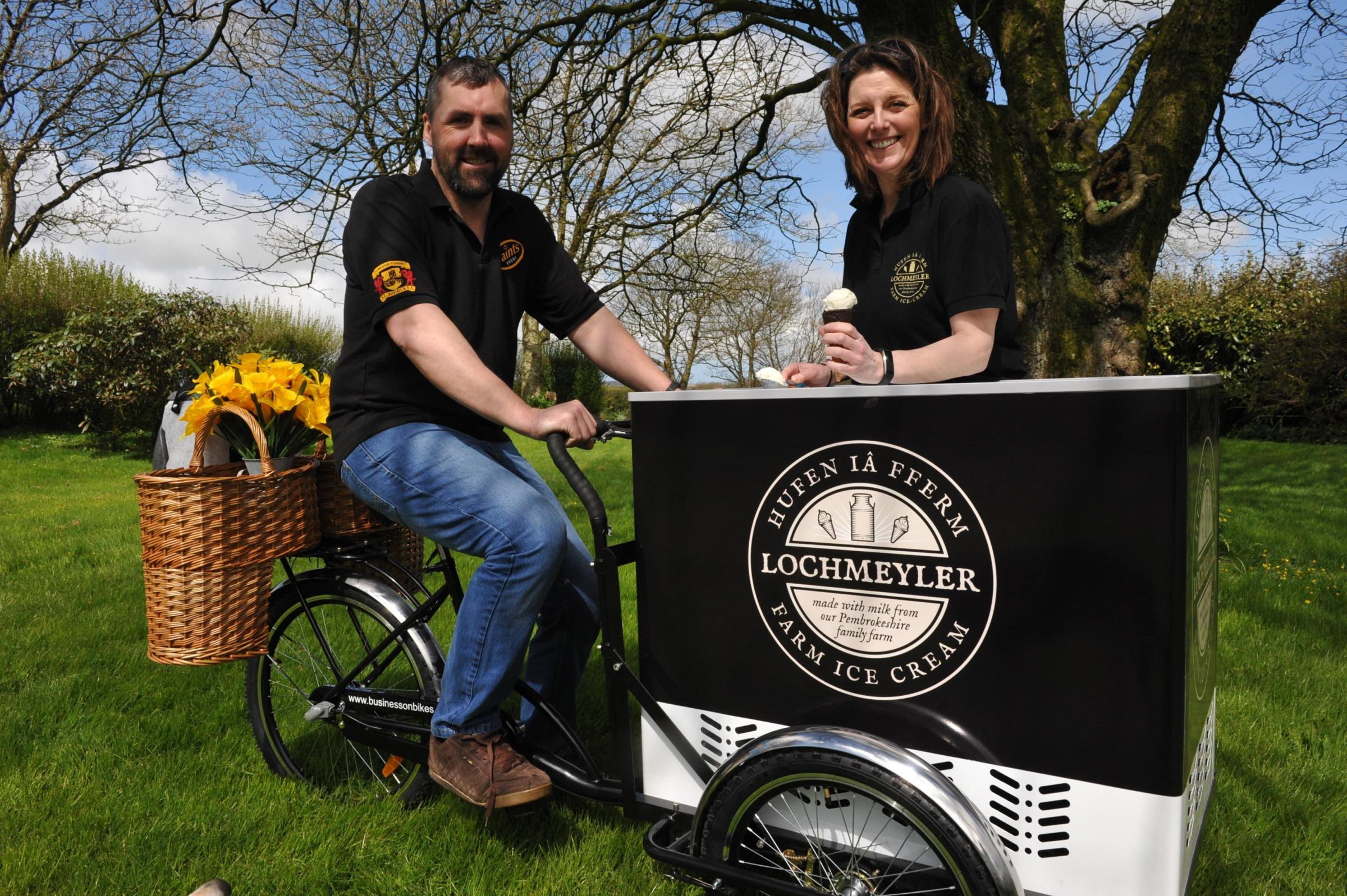 Matthew and Margo Evans can nearly double their income from the milk they use to produce their ice-cream PICTURE: Debbie James