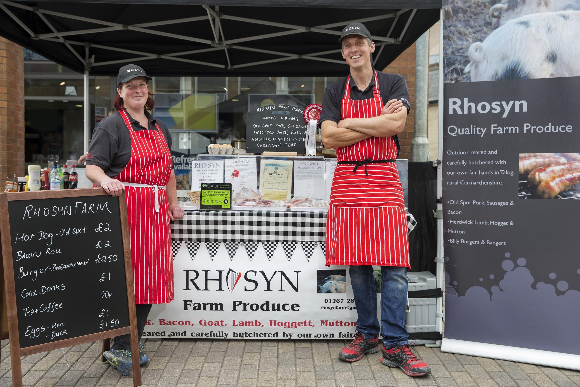 Emma and Neil Rose, owners of Rhosyn Farm PICTURE: Huw John
