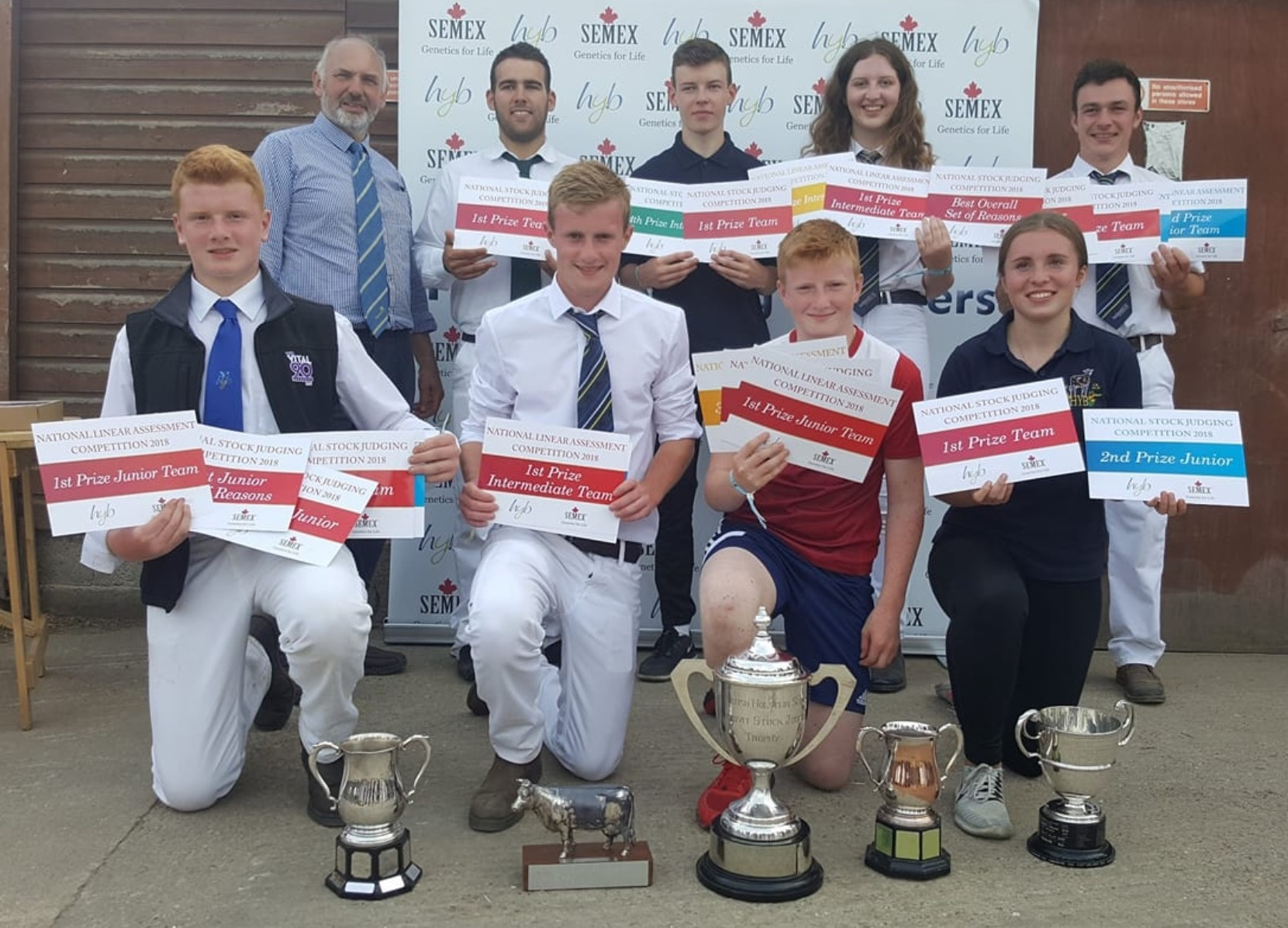 The South Wales Holstein Young Breeders team