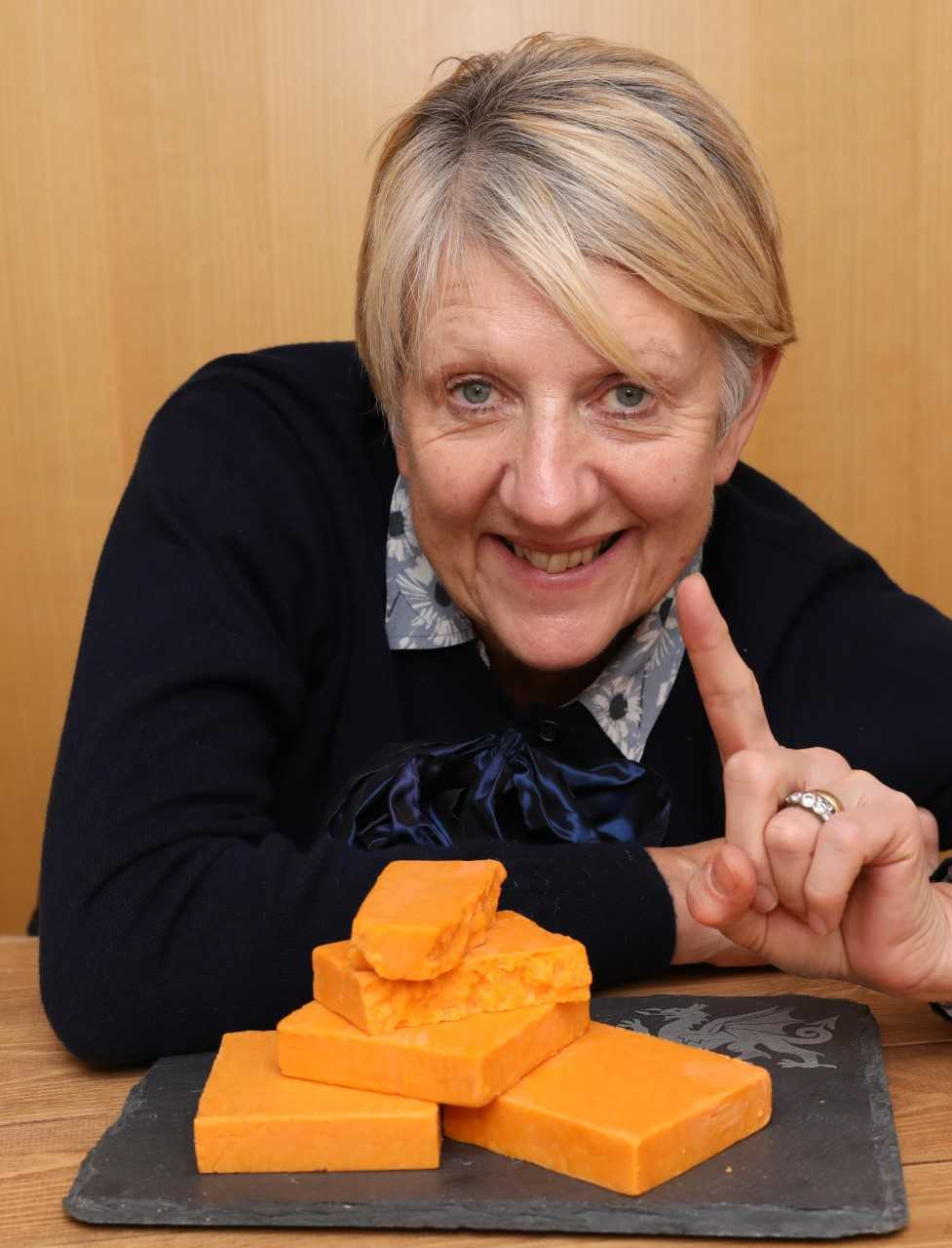 New product development manager Linda Lewis Williams with the award winning Red Leicester cheese